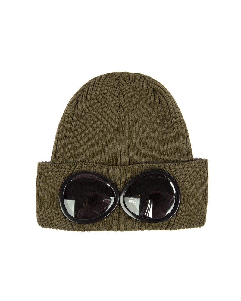 Шапка C.P.Company Goggle Cotton Beanie Hat Army Green
