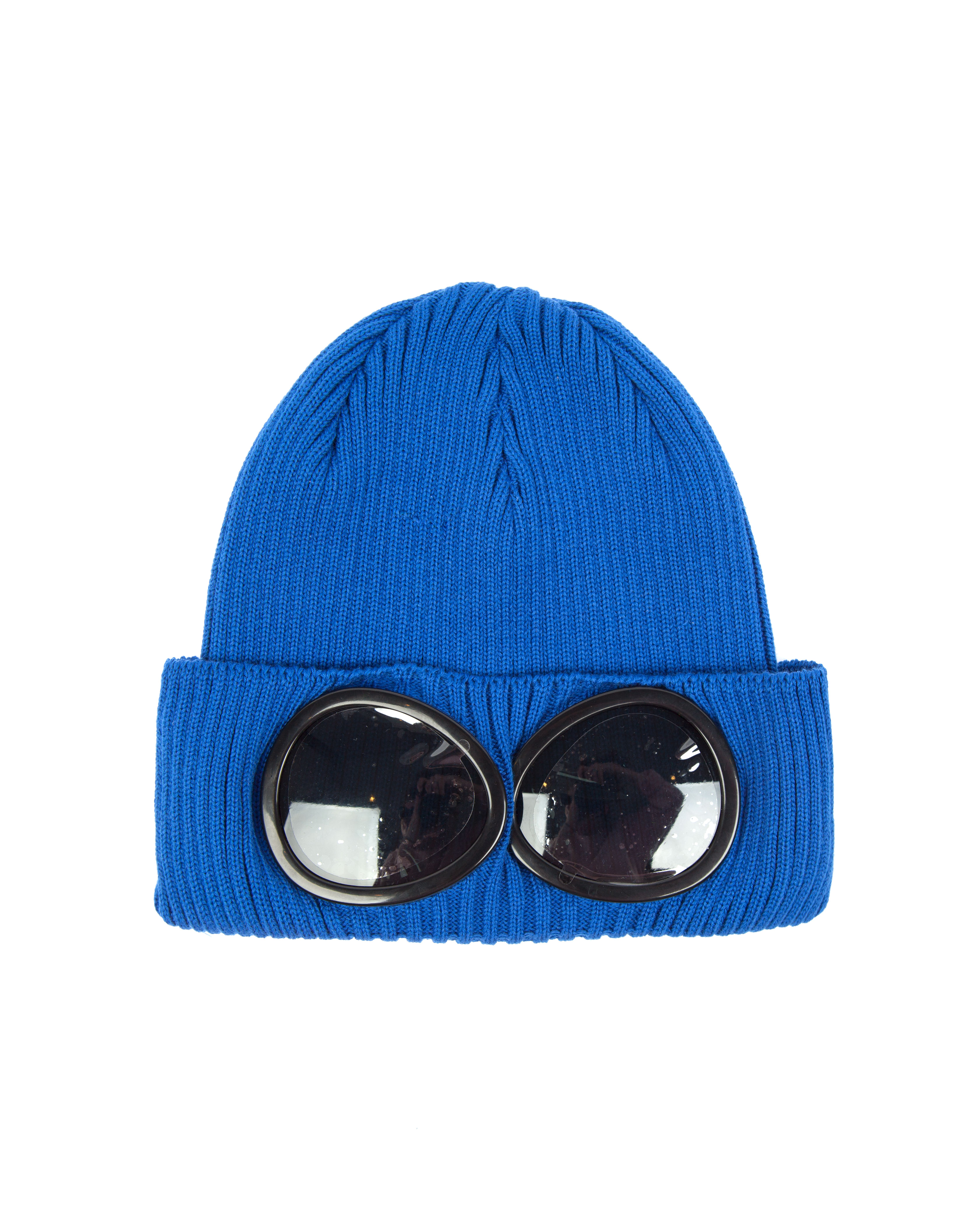 Шапка C.P.Company Goggle Cotton Beanie Hat Blue