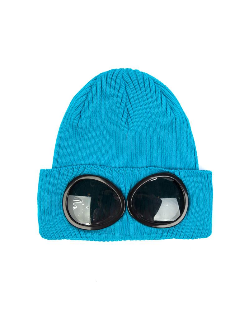 Шапка C.P.Company Goggle Cotton Beanie Hat Light Blue