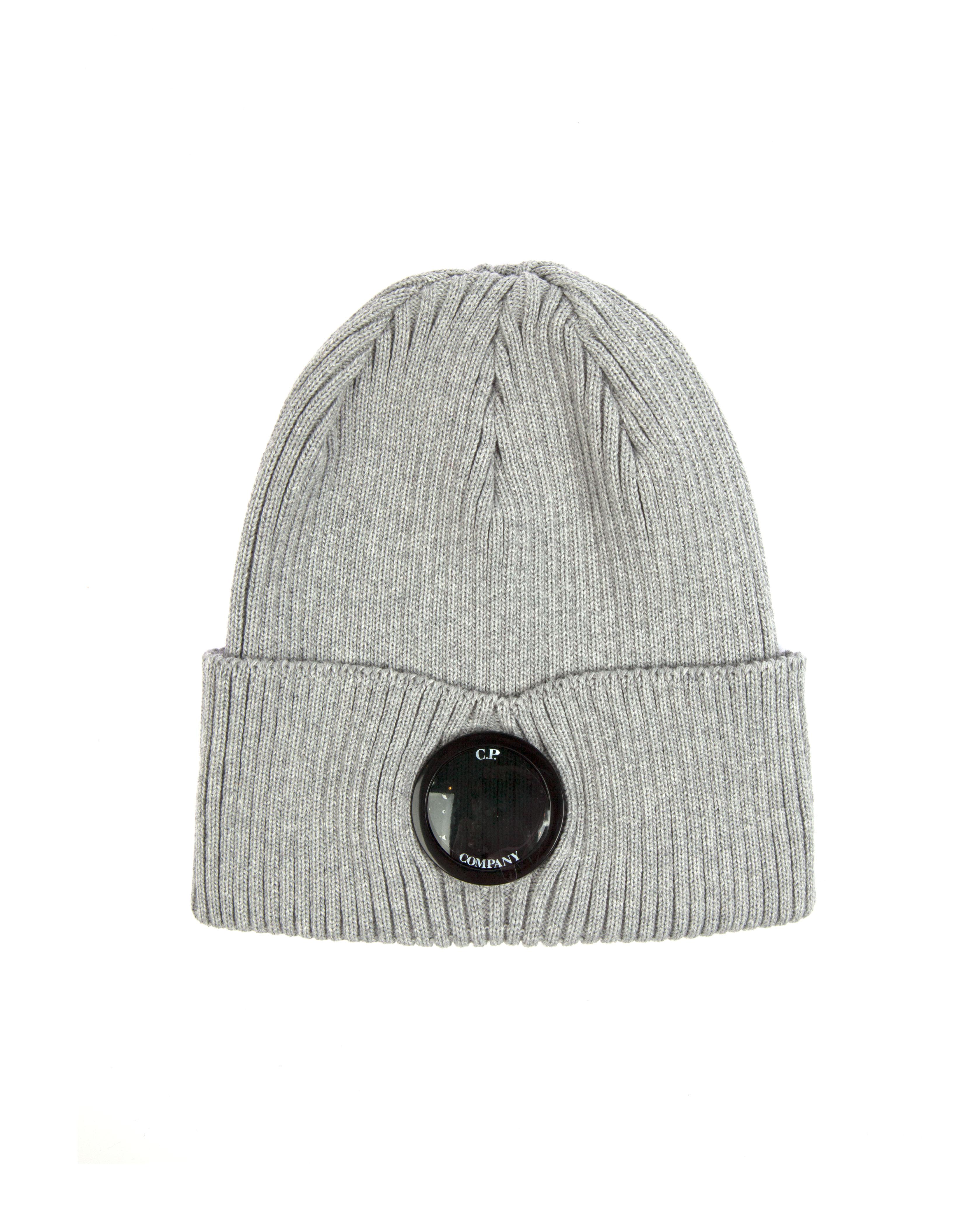 Шапка C.P.Company Lens Cotton Beanie Hat Grey