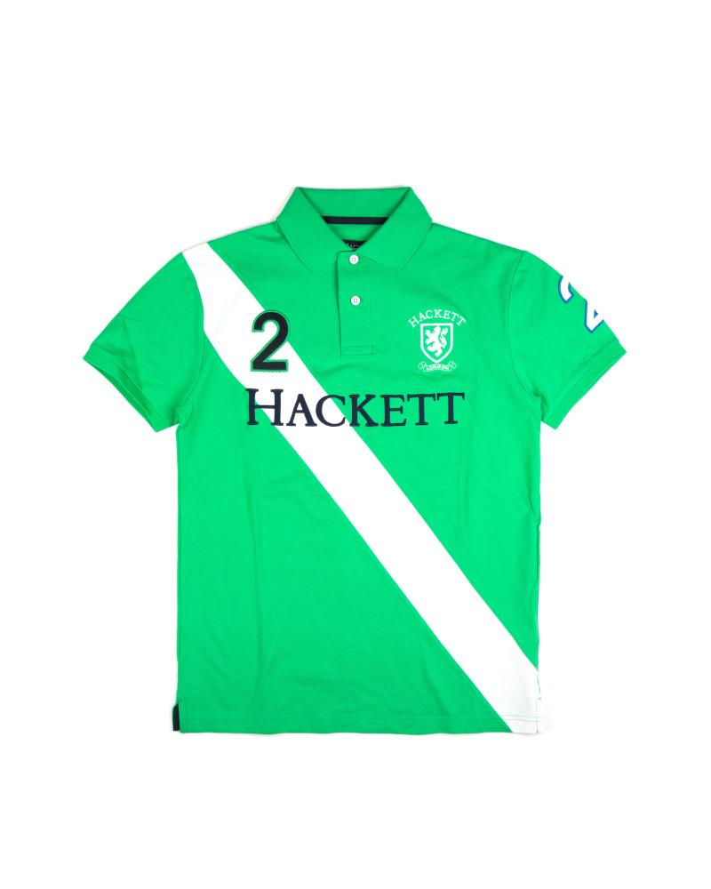 Футболка-поло Hackett Green & White Polo Shirt