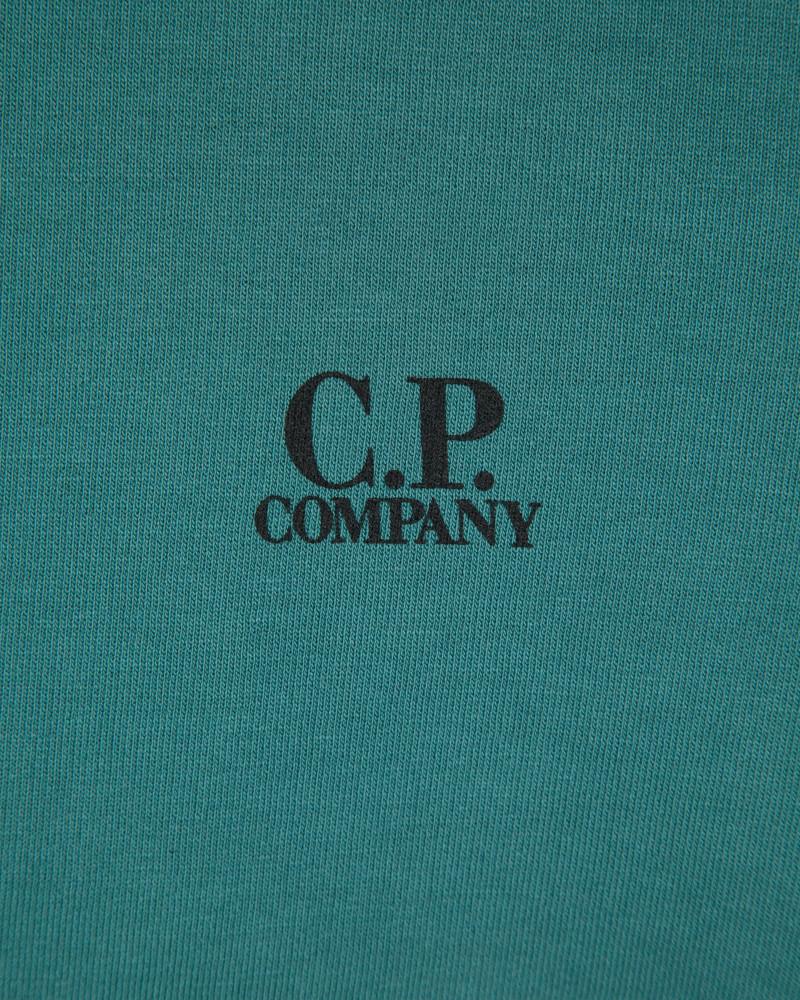 Свитшот C.P.Company Small Logo Emerald Sweatshirt