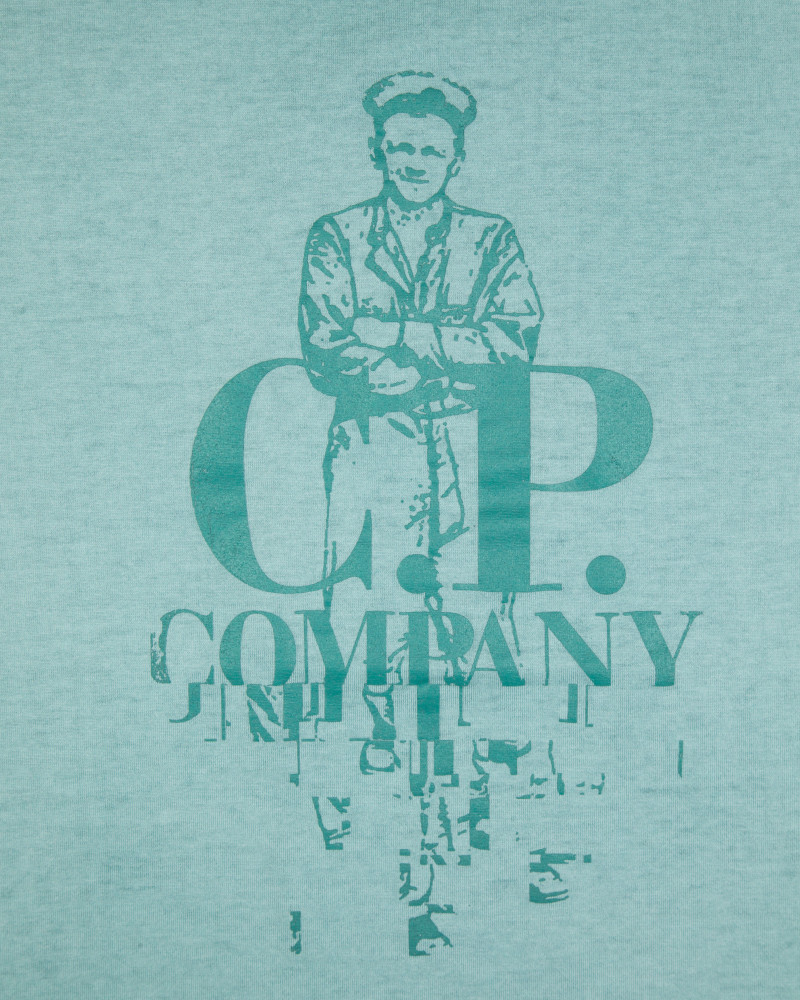 Футболка C.P.Company Sailor Logo Mint