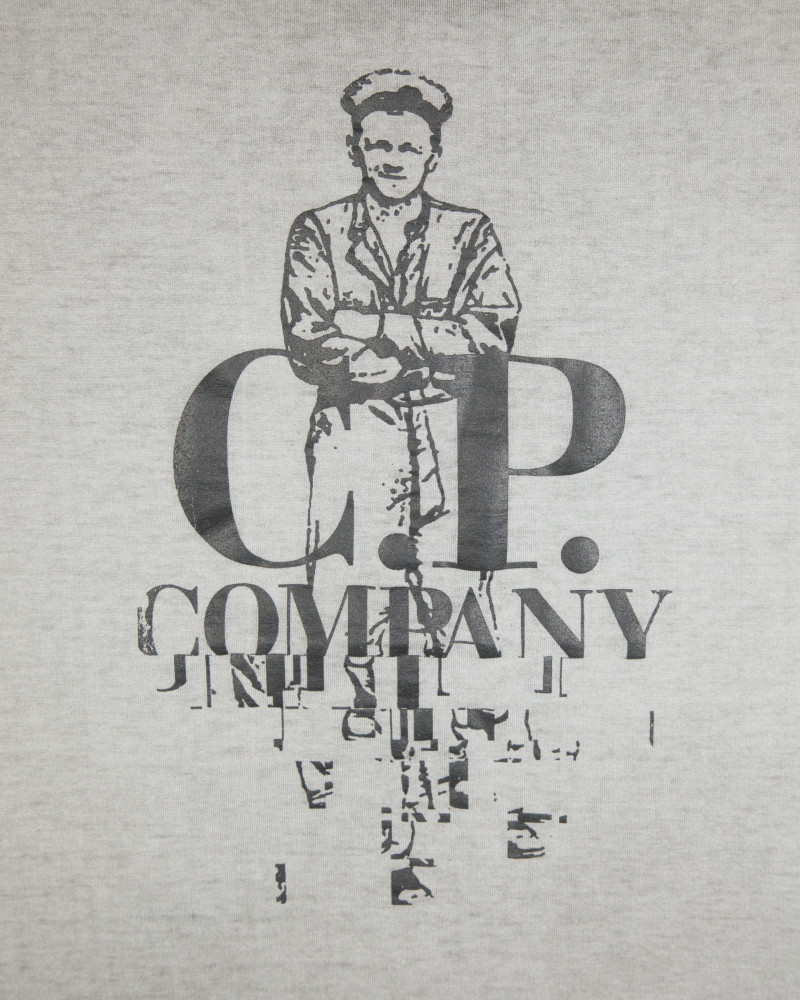Футболка C.P.Company Sailor Logo Dark Grey