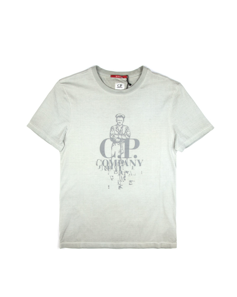 Футболка C.P.Company Sailor Logo Light Grey