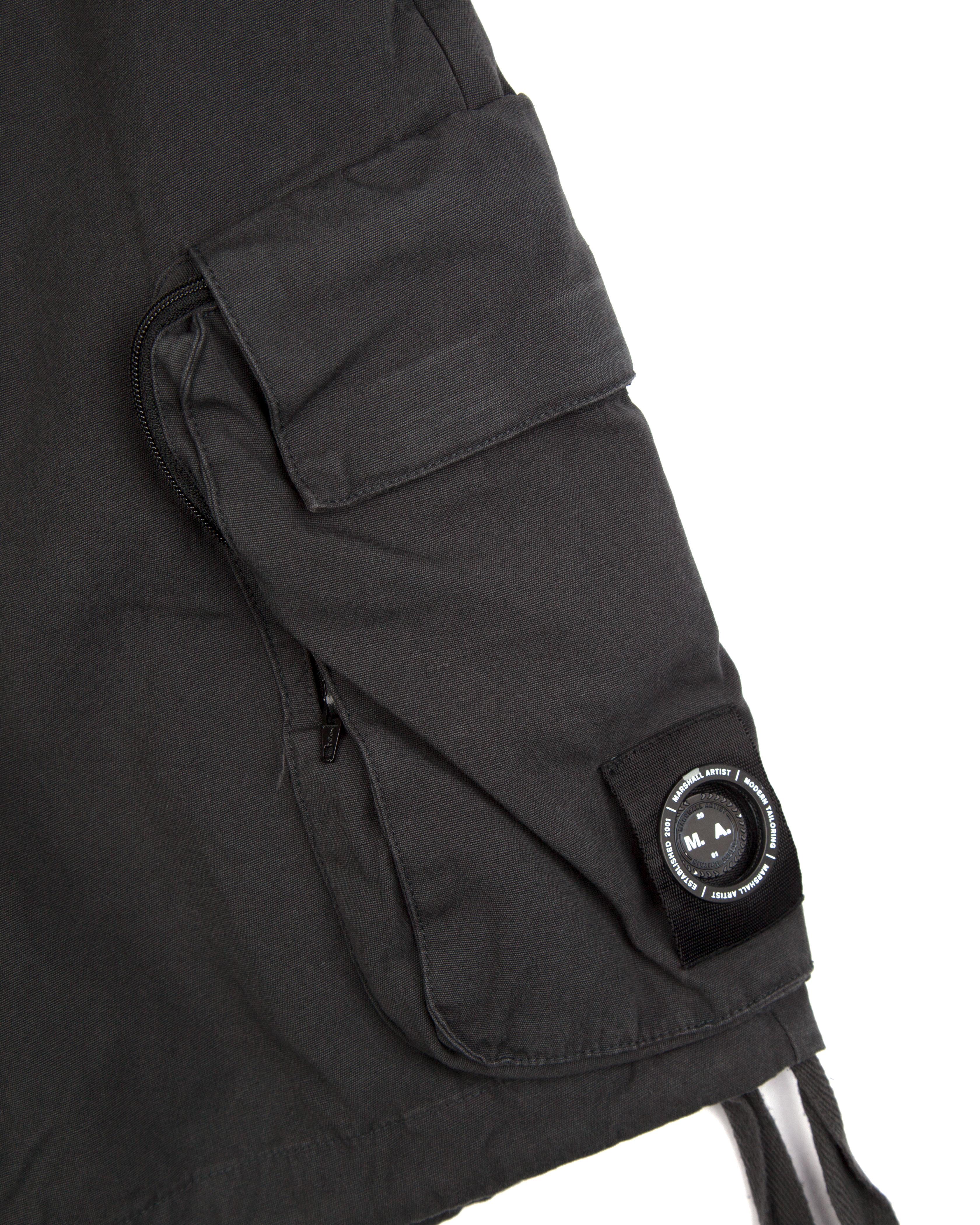 Шорты Marshall Artist Garment Dyed Cargo Short Charcoal