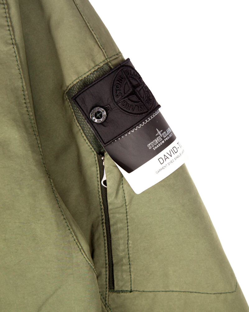 Бомбер Stone Island Shadow Project David-TC Garment Dyed Bomber Khaki