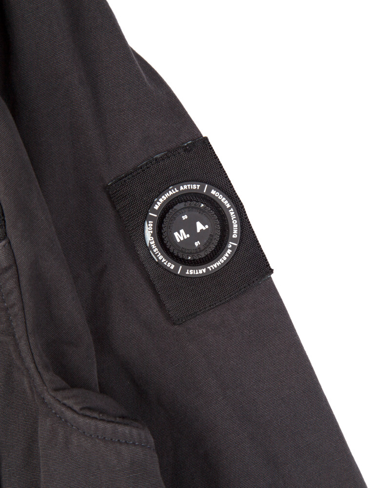 Куртка Marshall Artist Garment Dyed Overshirt Charcoal