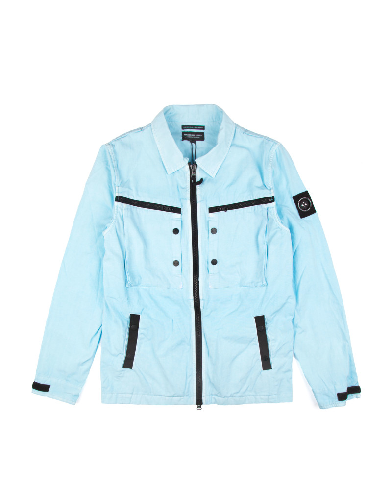 Куртка Marshall Artist Garment Dyed Overshirt Sky Blue