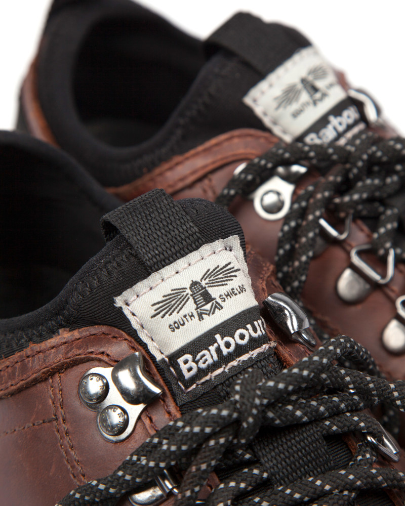 Кроссовки Barbour Leather Waxed Sneakers.