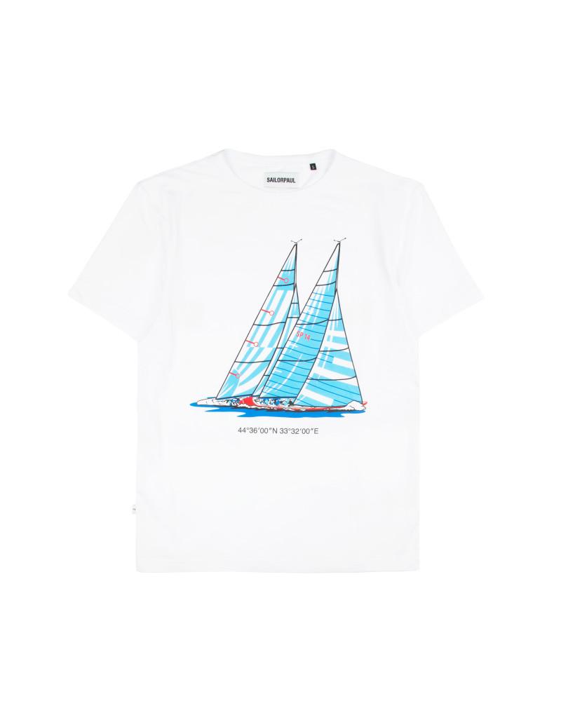 Футболка Sailor Paul Yacht White Tee.