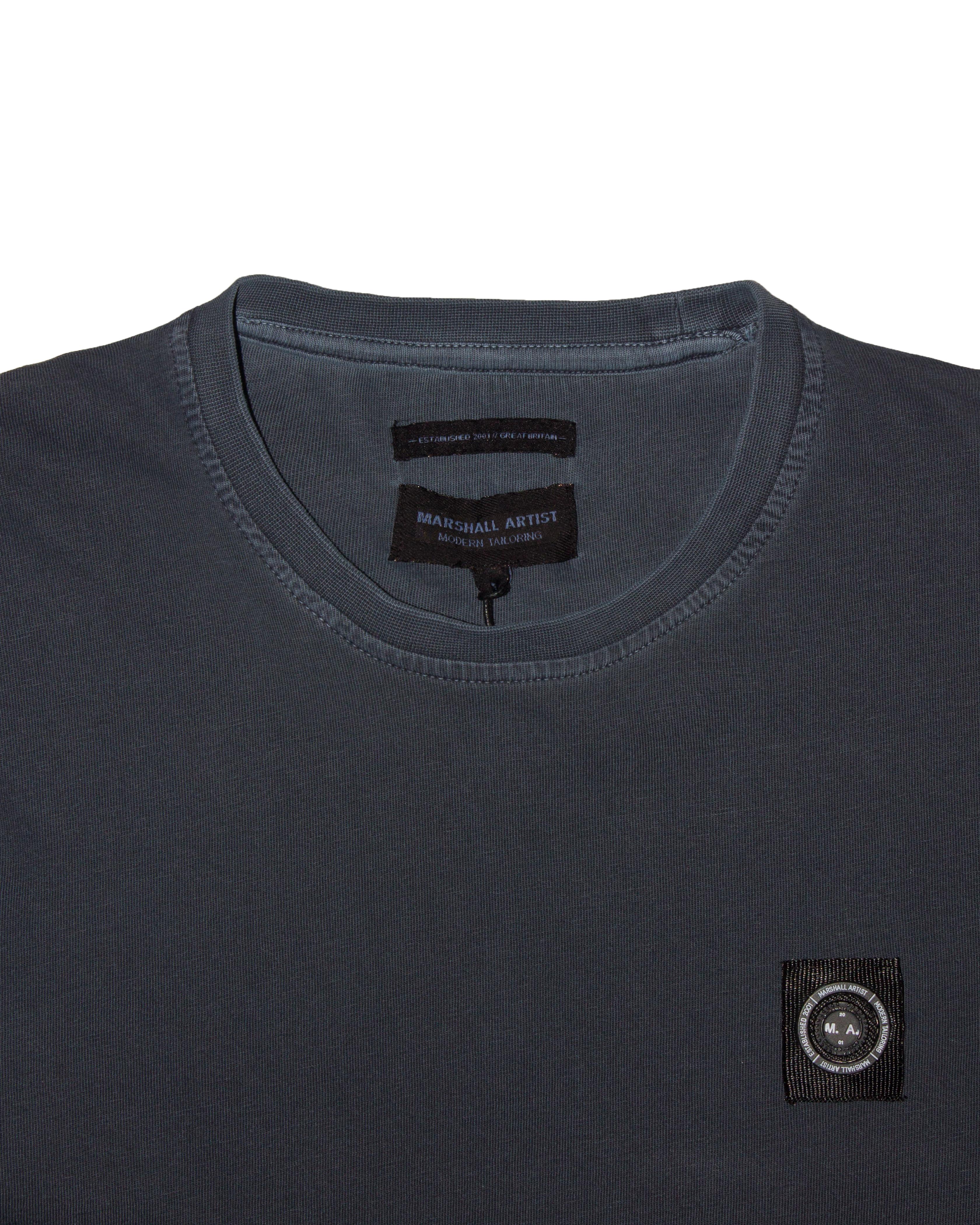 Футболка Marshall Artist Garment Dyed Navy Tee