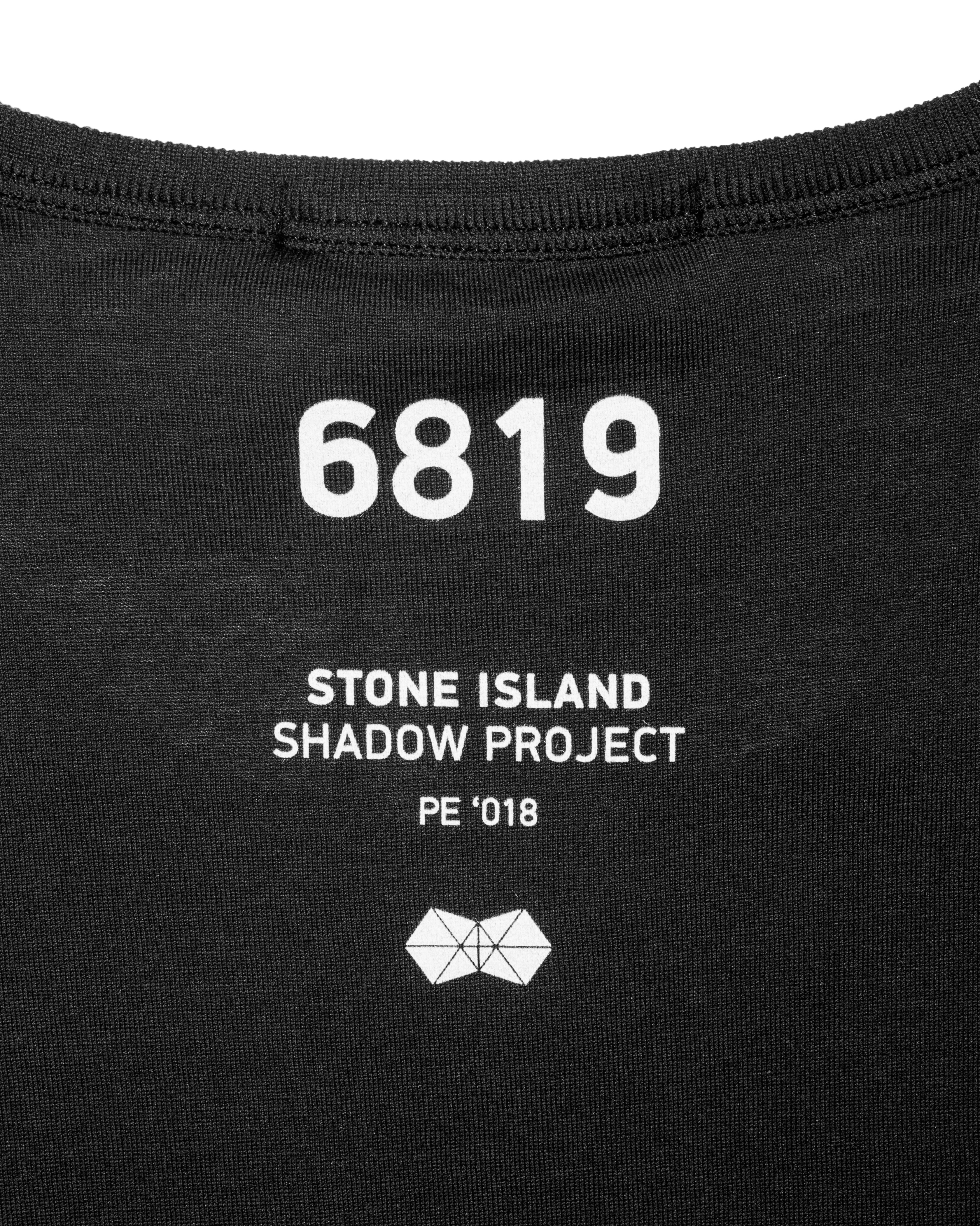 Футболка Stone Island Shadow Project Printed Black Tee