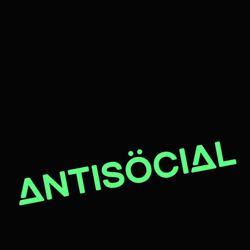 Футболка ANTISOCIAL Night Glow Black