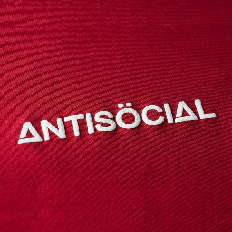 Футболка ANTISOCIAL Cross 2.0 Bordeaux