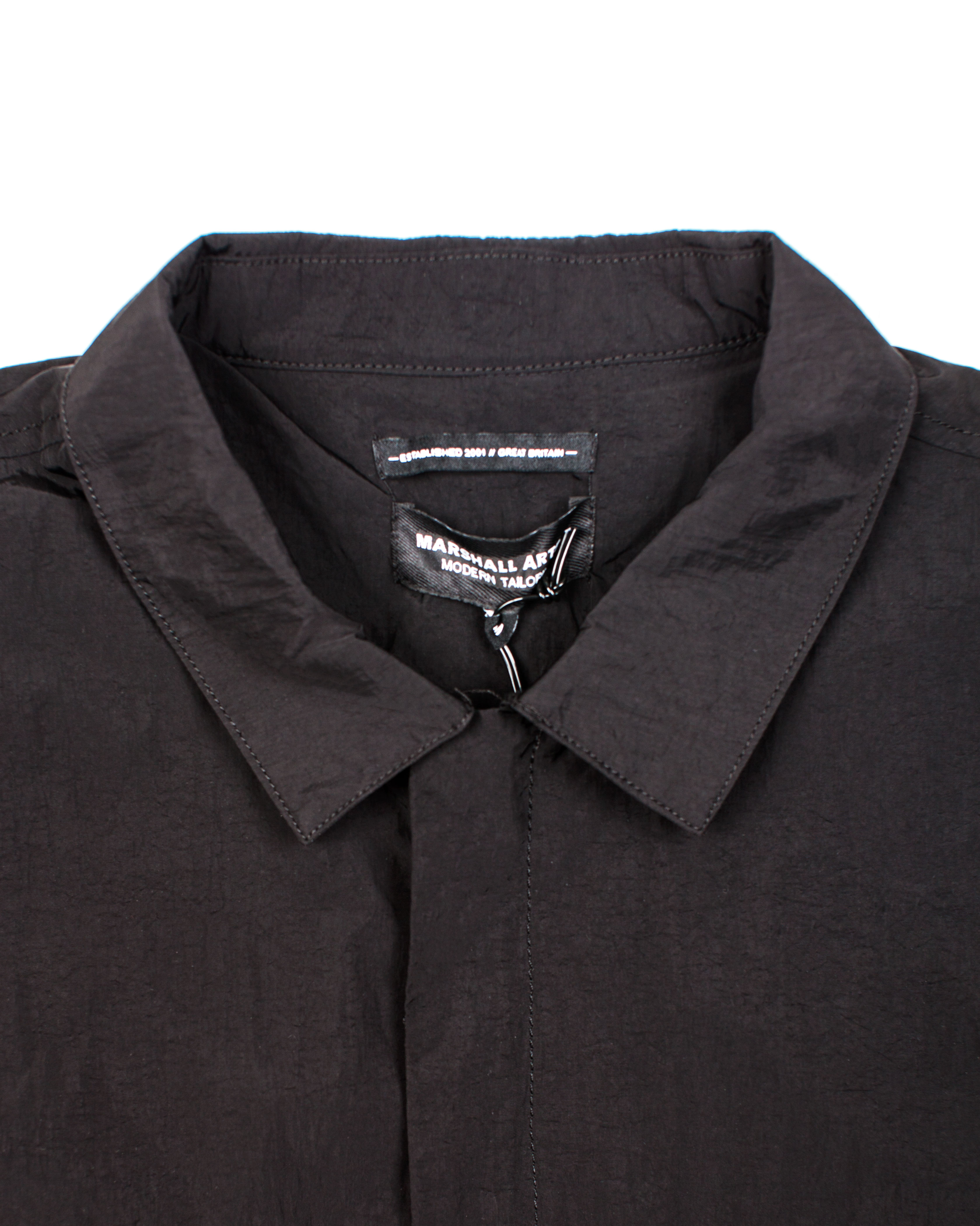 b8951c4e796 Ветровка Marshall Artist Liquid Bellow Overshirt Black