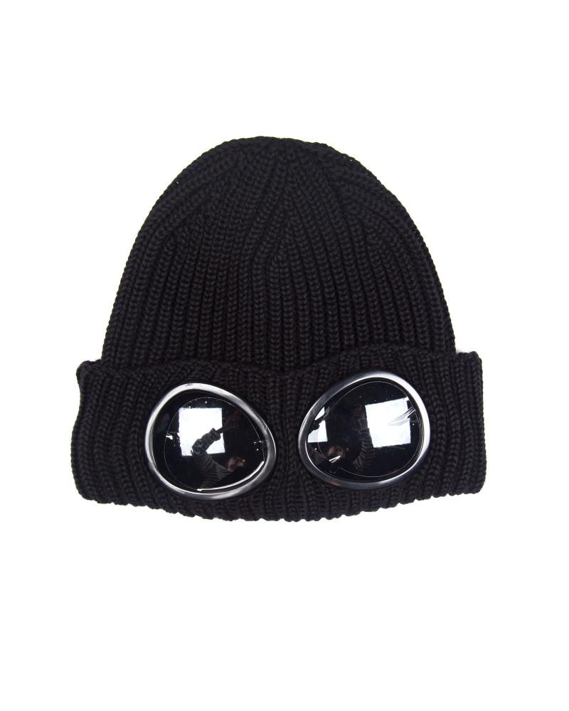 Шапка C.P.Company Merino Wool Goggle Beanie Hat Black