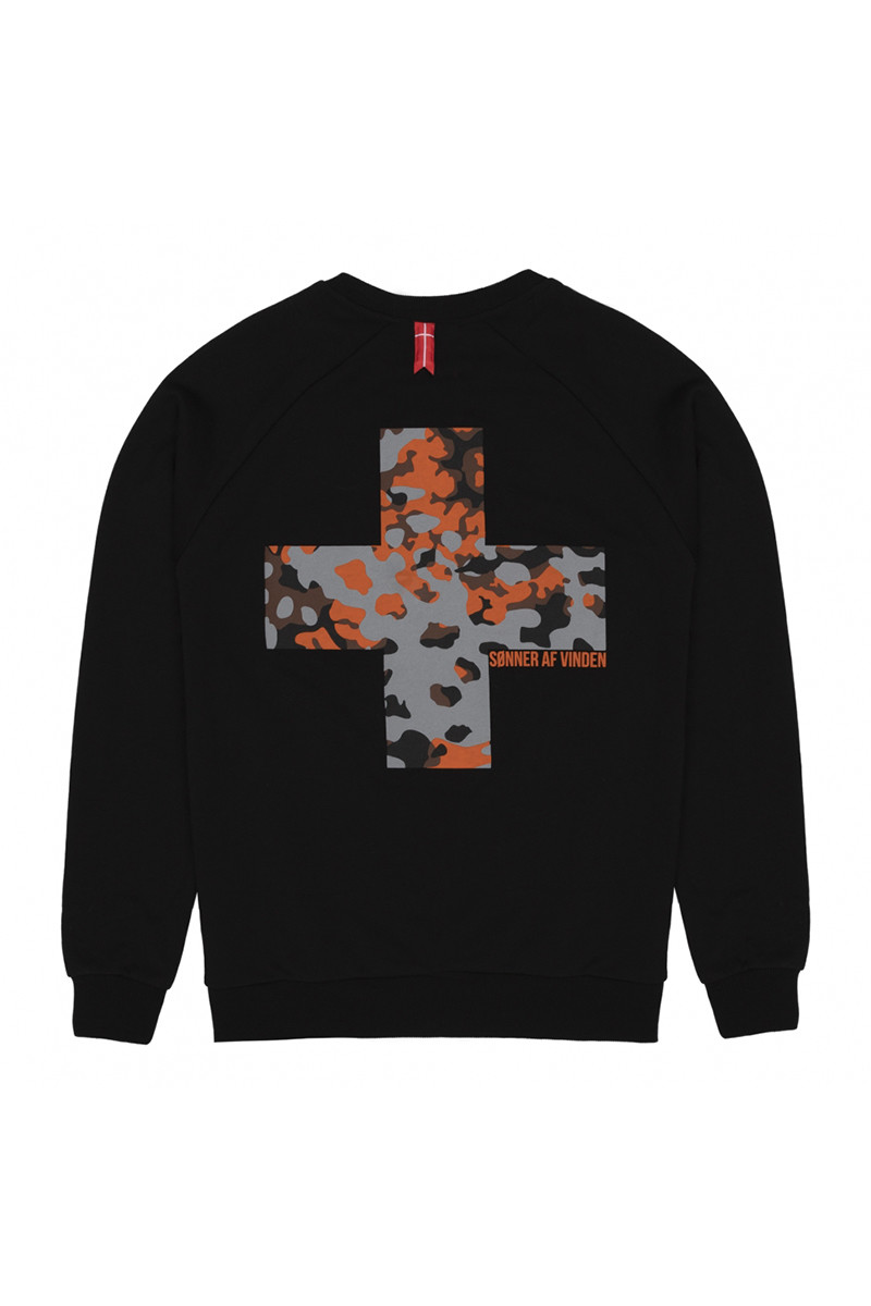 Свитшот Sonner Af Vinden Oak Camo Cross Black