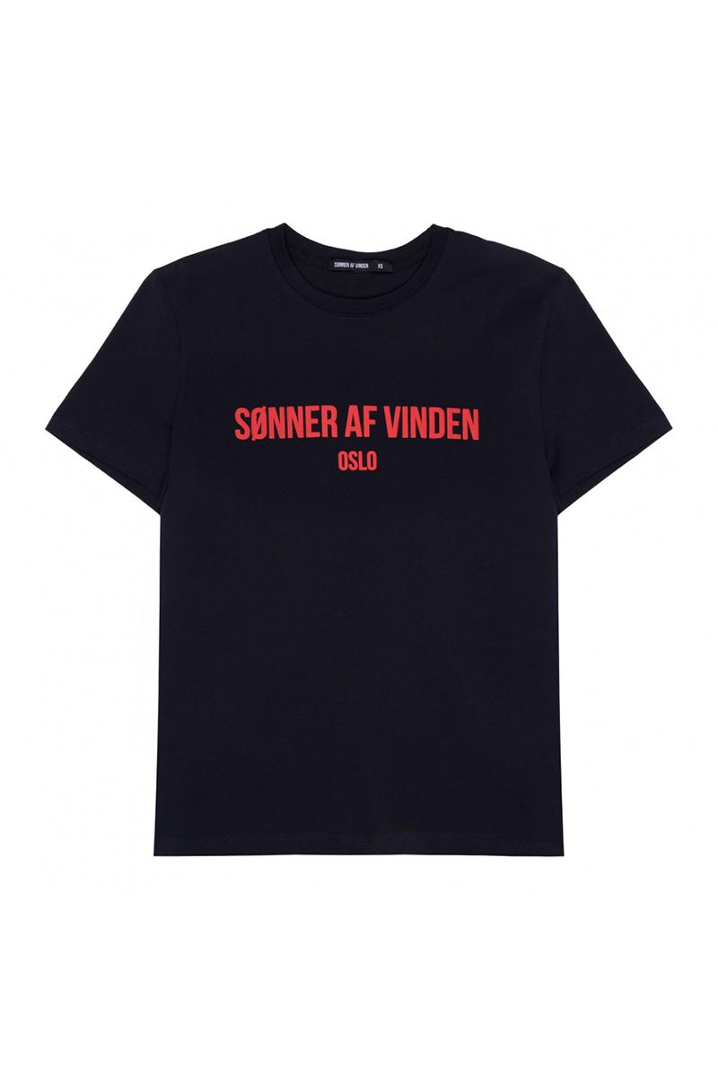 Футболка Sonner Af Vinden Bar Logo Oslo Navy