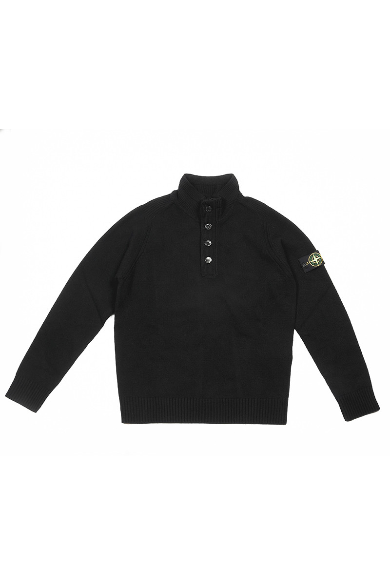 Свитер Stone Island Lambswool High Neck Zip Navy Blue