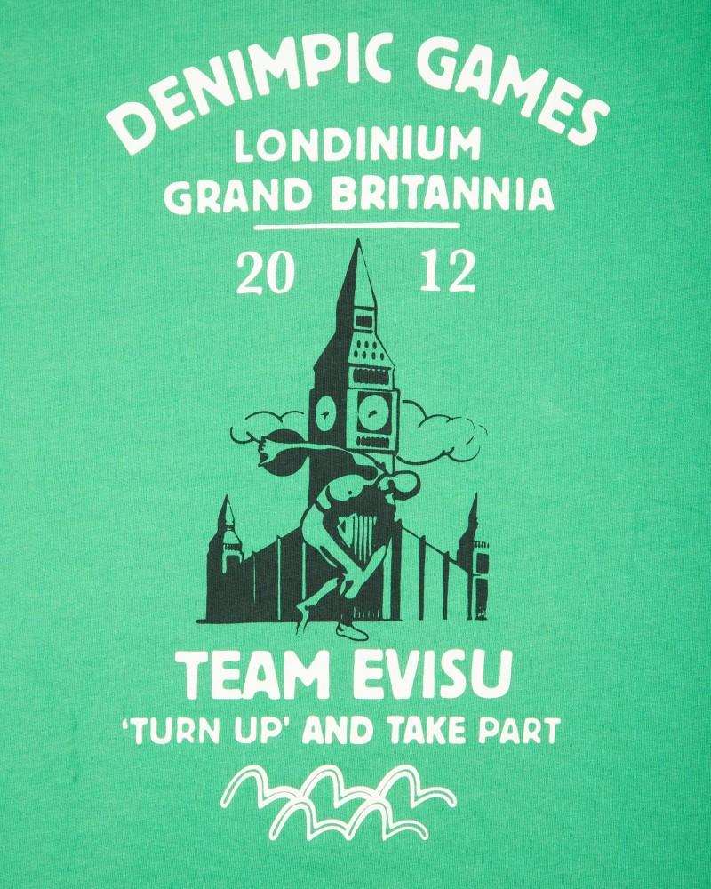 Футболка Evisu Denimpics 2012 Зеленая