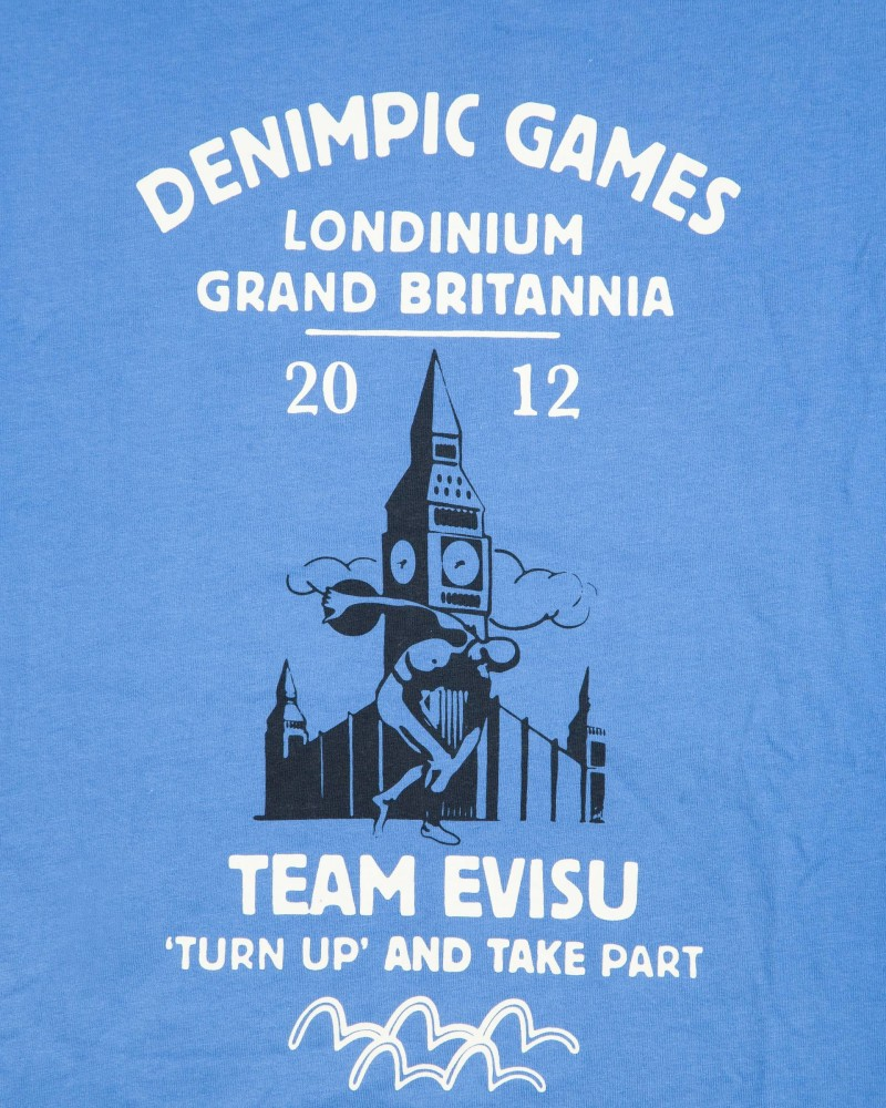 Футболка Evisu Denimpics 2012 Голубая