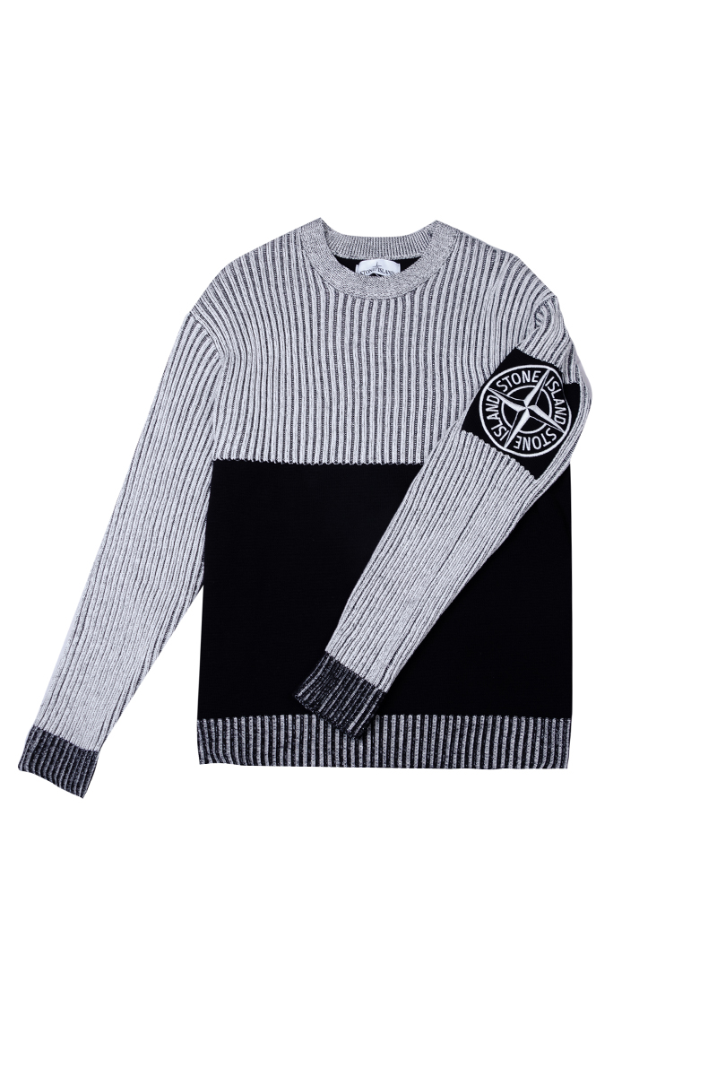 Свитер Stone Island Grey Stripe Sweater