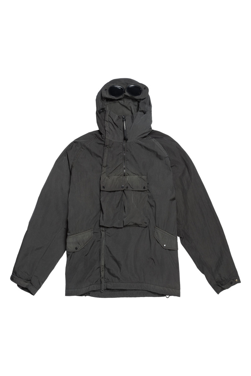 C.P. Company Chrome Re-Colour Goggle Jacket in Raven Grey