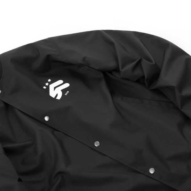 Классический Бомбер Steelback Black с принтом