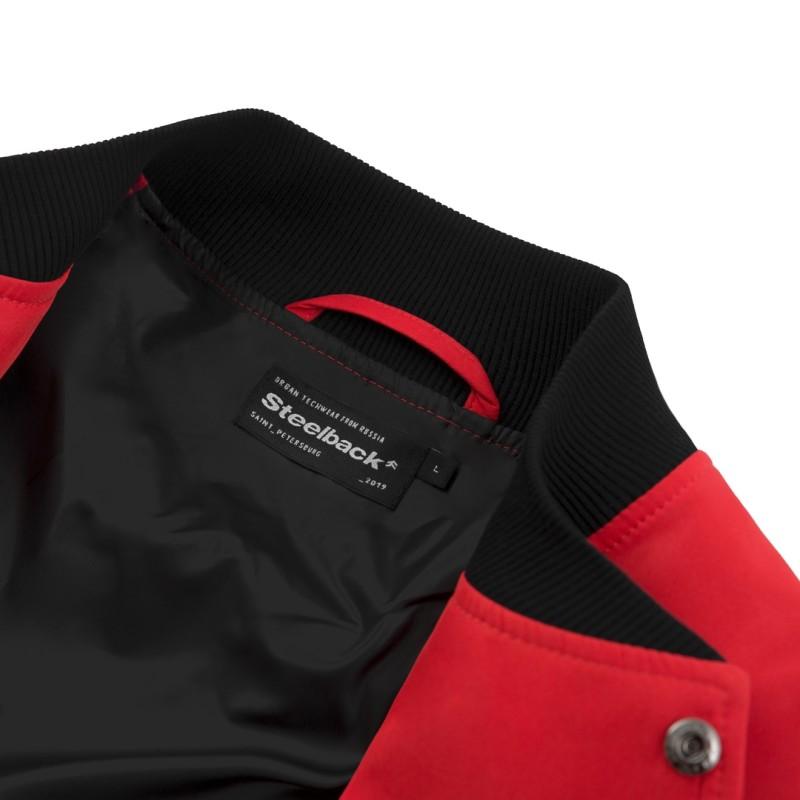 Классический Бомбер Steelback Red с принтом