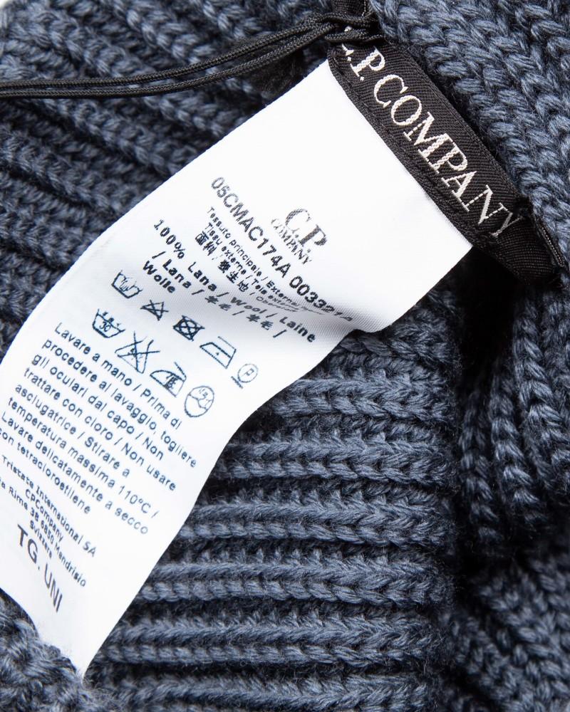 Шапка C.P.Company Mono Lens Wool Grey Hat