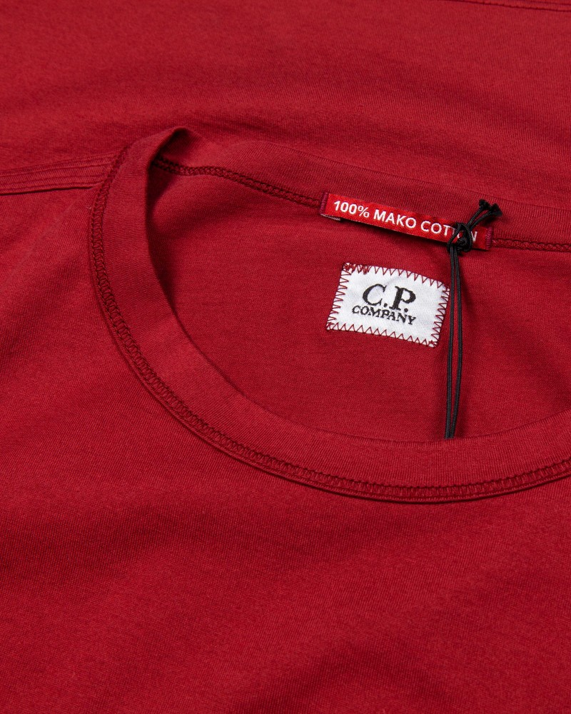 C.P.COMPANY LONG SLEEVE MAKO COTTON POCKET T-SHIRT