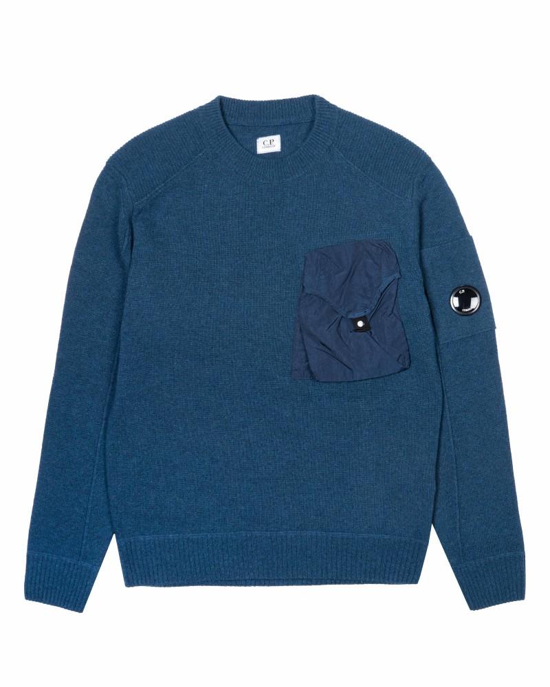 C.P.Company свитер Lambswool Mixed Chrome Pocket Crew Sweat