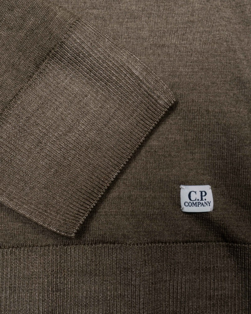 C.P.Company  кофта Fast Dyed Merino Zip Turtle Neck