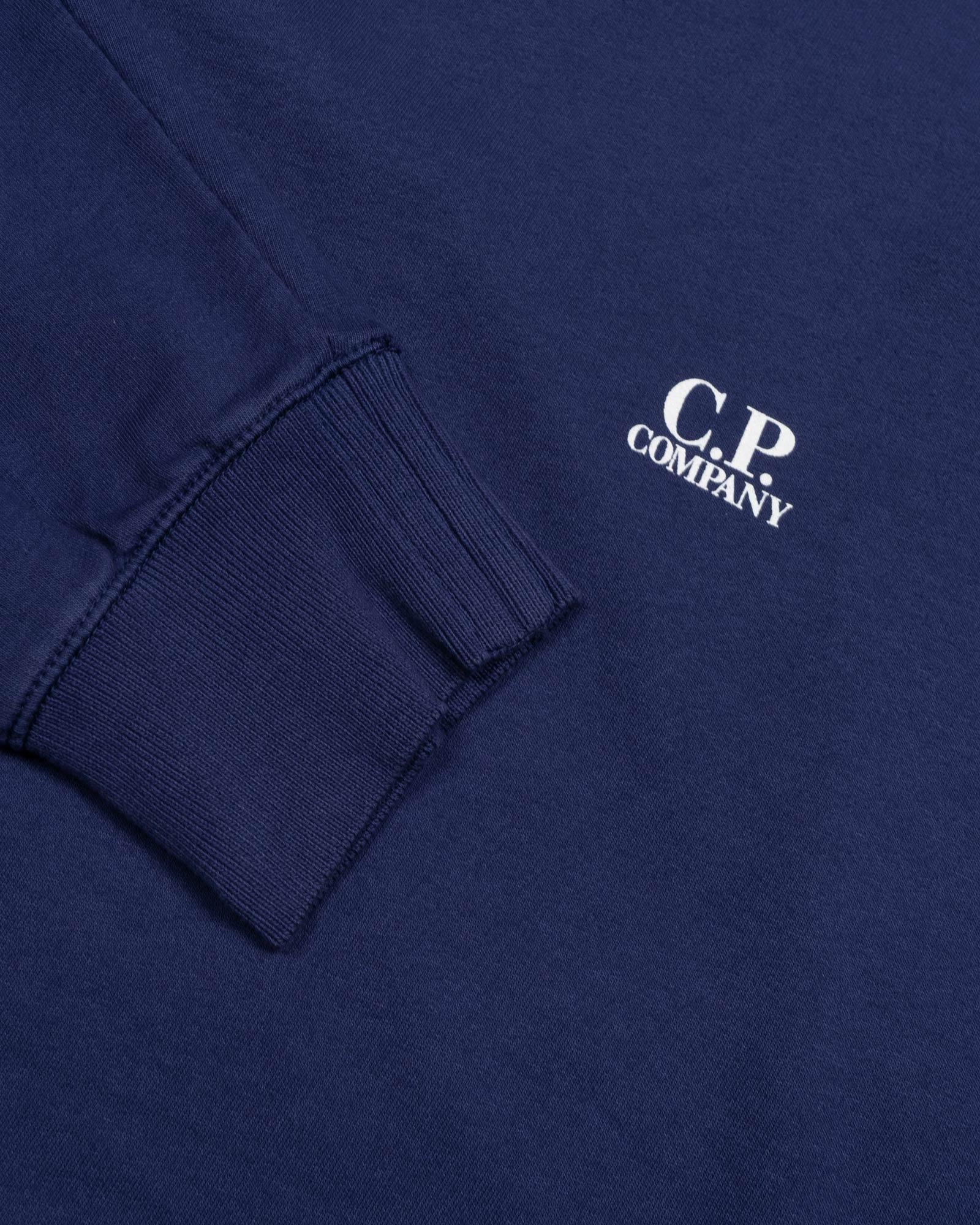 толстовка C.P.Company Light Fleece Logo Crew Sweater