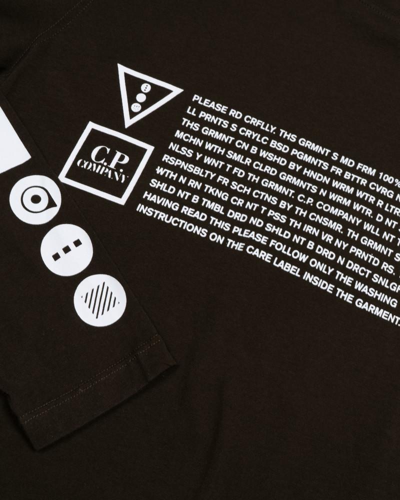 лонгслив C.P.Company Jersey 30/1 LS Graphic Crew T-shirt