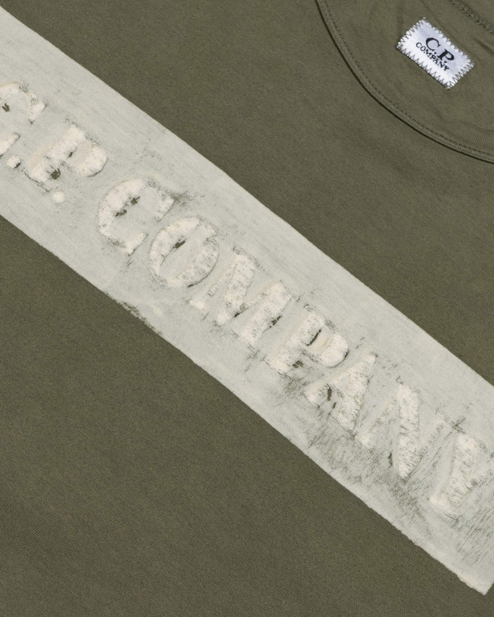 лонгслив C.P.Company Garment Dyed Light Fleece Logo Box Sweat