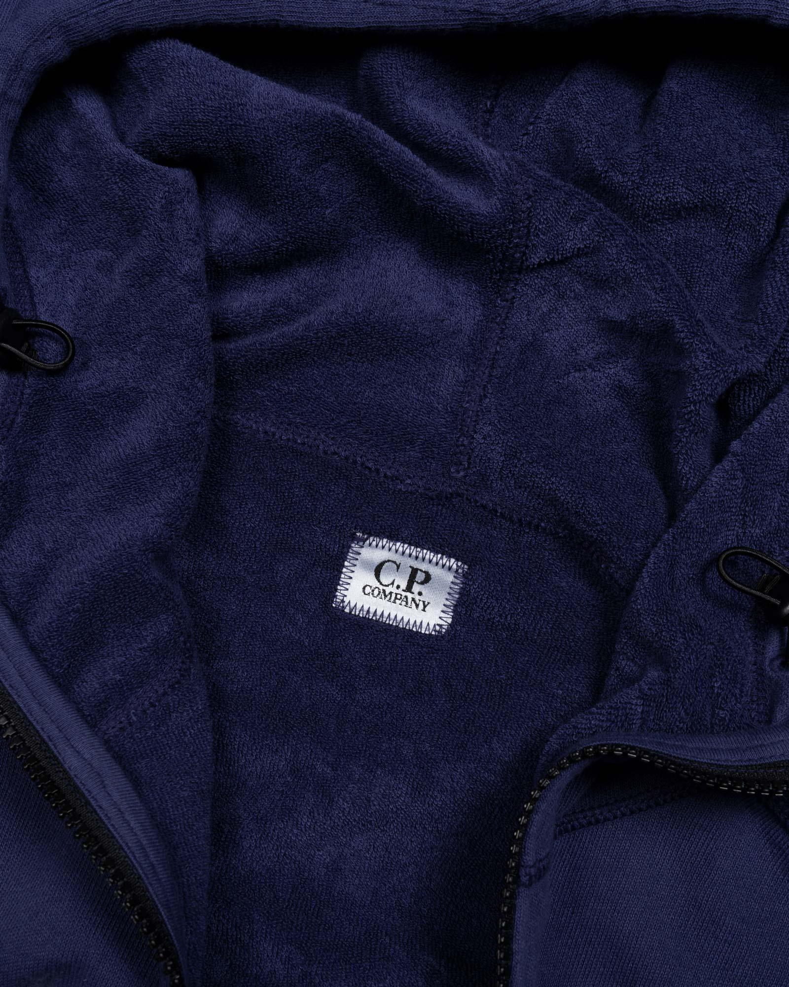толстовка C.P.Company Diagonal Fleece Lens Hooded Sweater