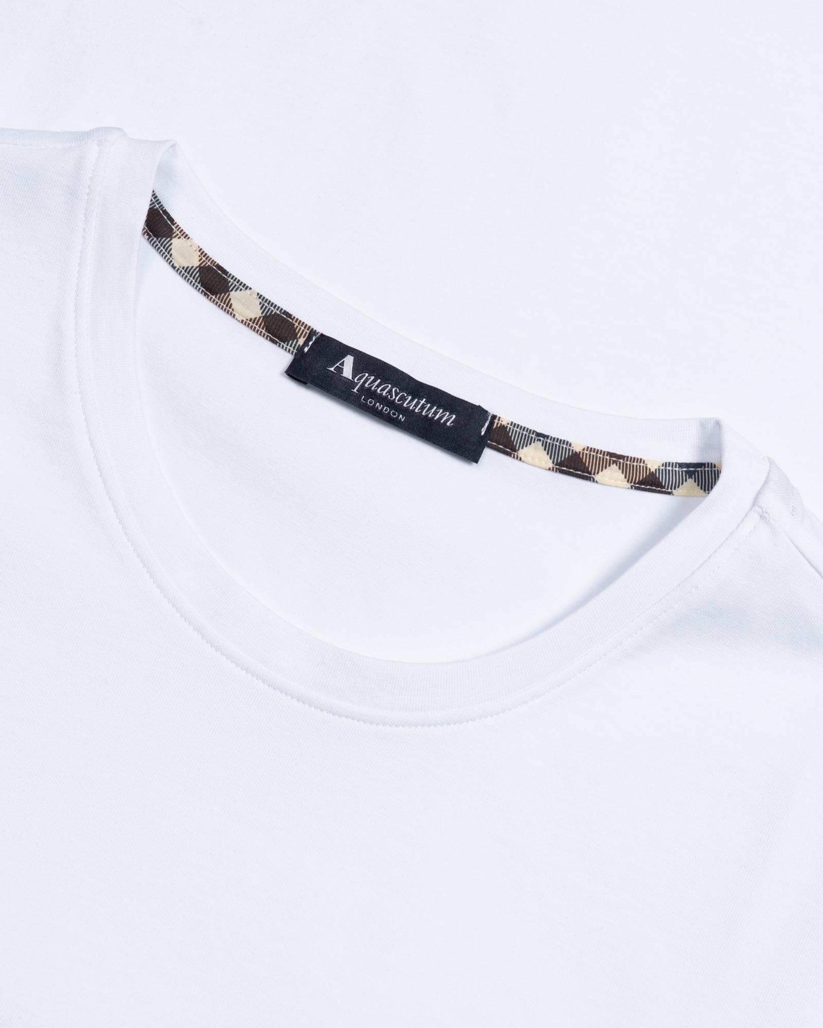 футболка Aquascutum  pocket white