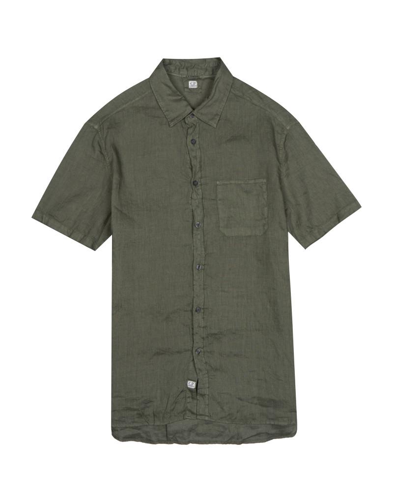 рубашка C.P.Company GARMENT DYED LINEN SHIRT