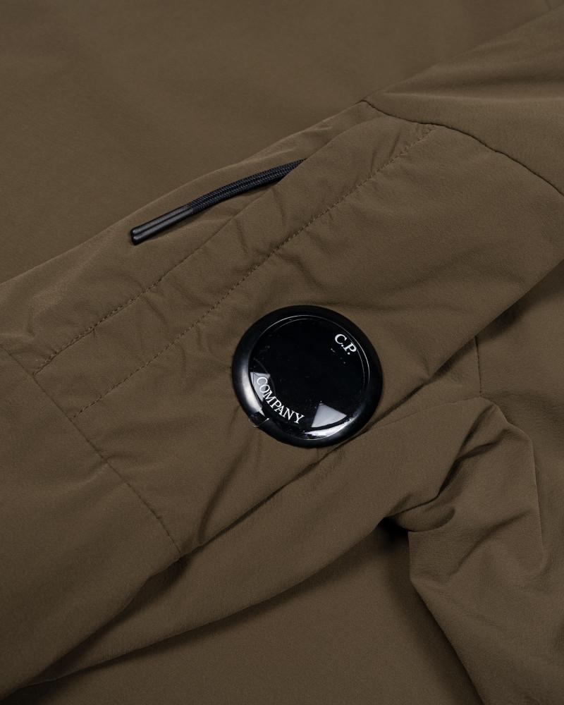 Мужской анорак C.P.Company Garment Dyed Stretch Nylon High Neck Lens Hoodie