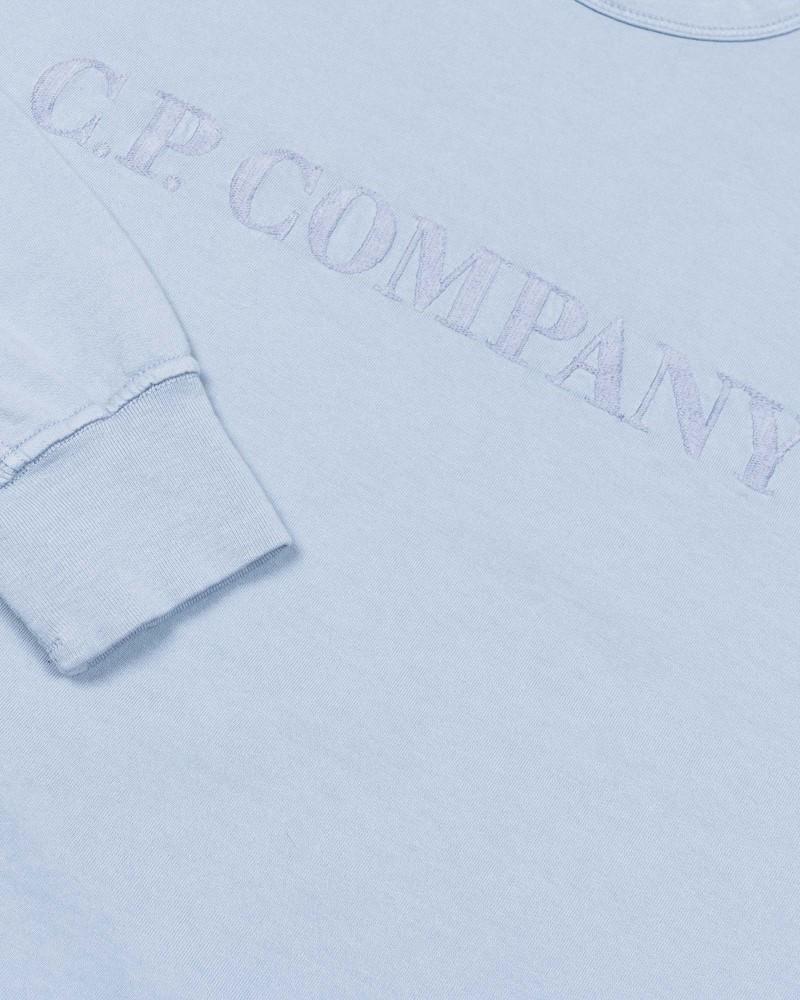 Мужская толстовка C.P.Company Garment Dyed Light Fleece Logo Sweat