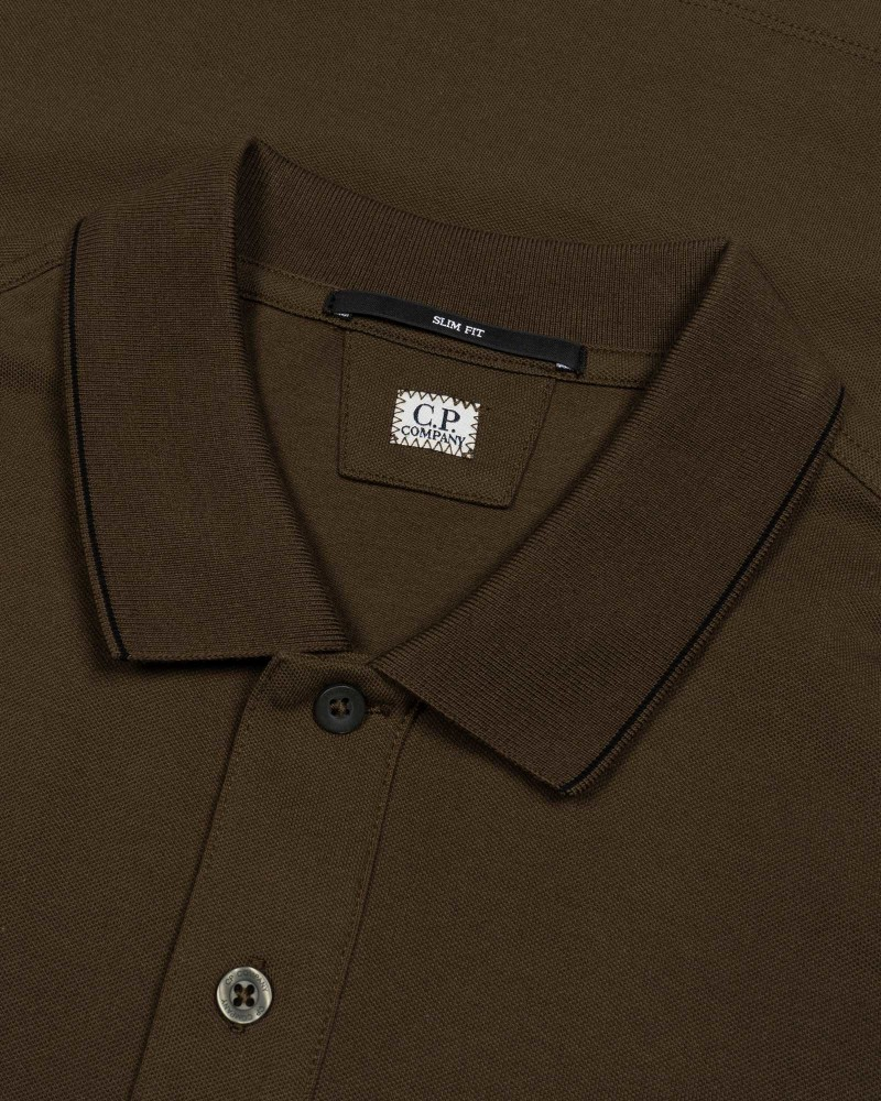 Мужское поло C.P.Company Stretch Piquet Logo Polo Shirt